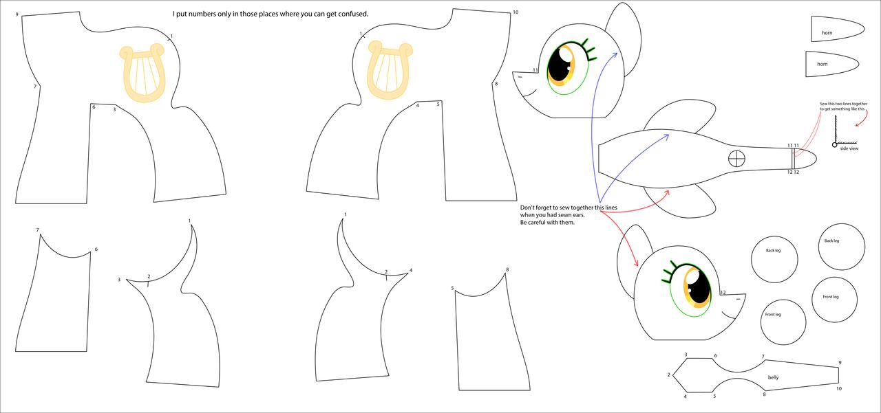 Игрушка пони выкройки
